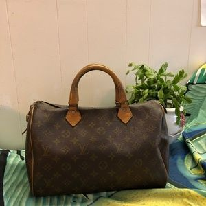 LOUIS VUITTON Monogram speedy 30 Made in USA